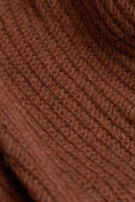 With alpaca: rib knit jumper, BROWN 5, detail