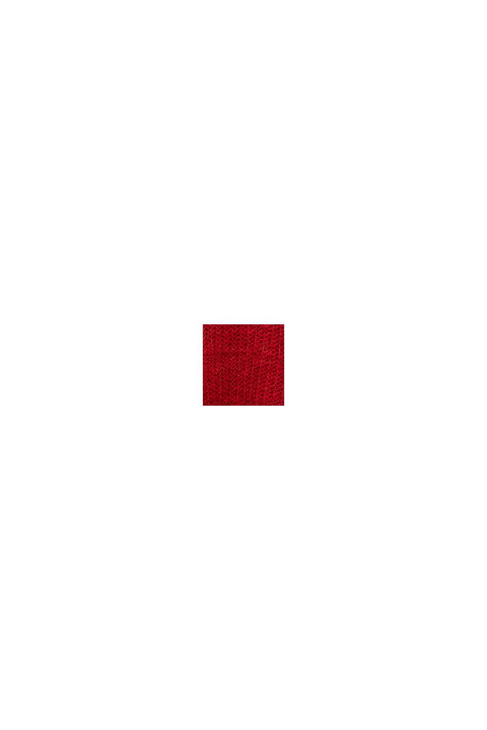 Mit Alpaka: Pullover aus Ripp-Strick, RED, swatch