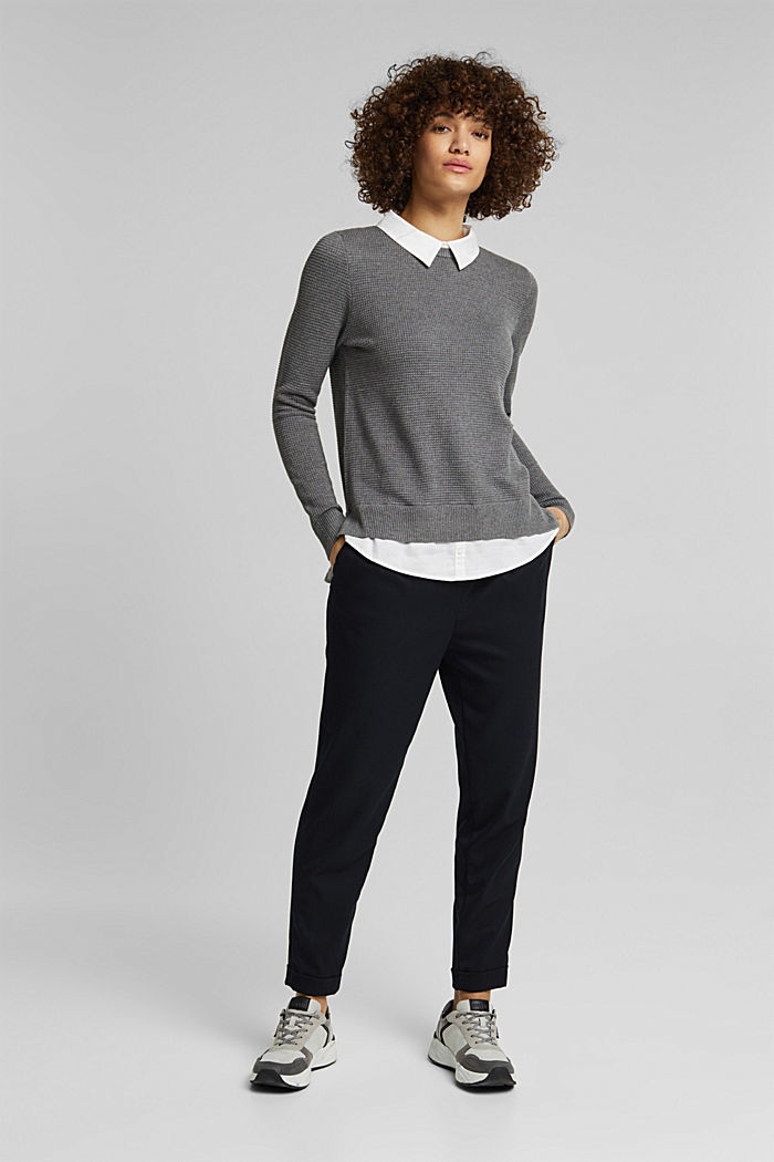 2-in-1 jumper in a textured knit