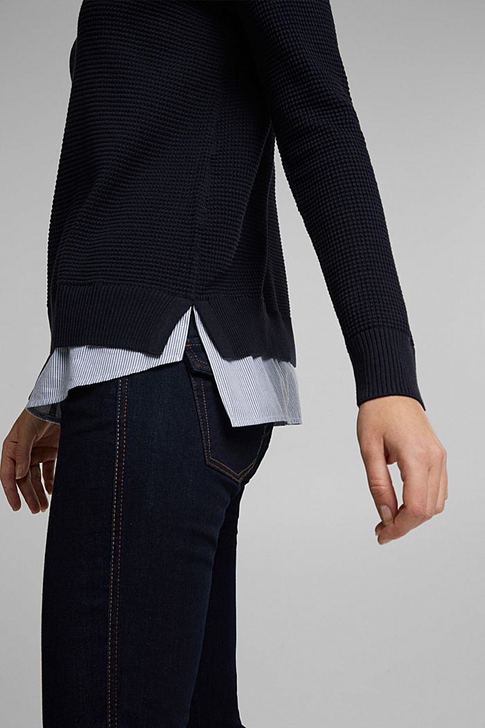 2-in-1 jumper in a textured knit, NAVY, detail image number 2