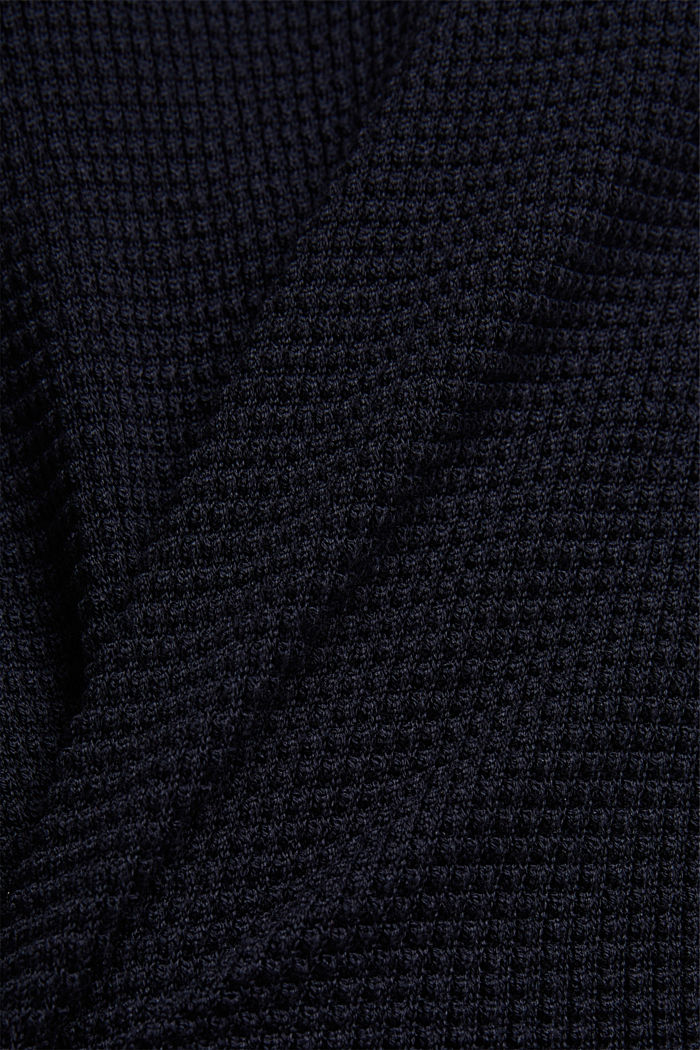 2-in-1 jumper in a textured knit, NAVY, detail image number 4