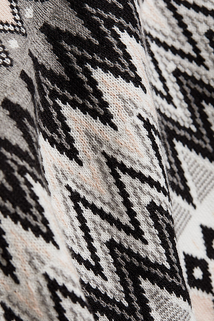 Fair Isle jumper, 100% organic cotton, DARK GREY, detail image number 4