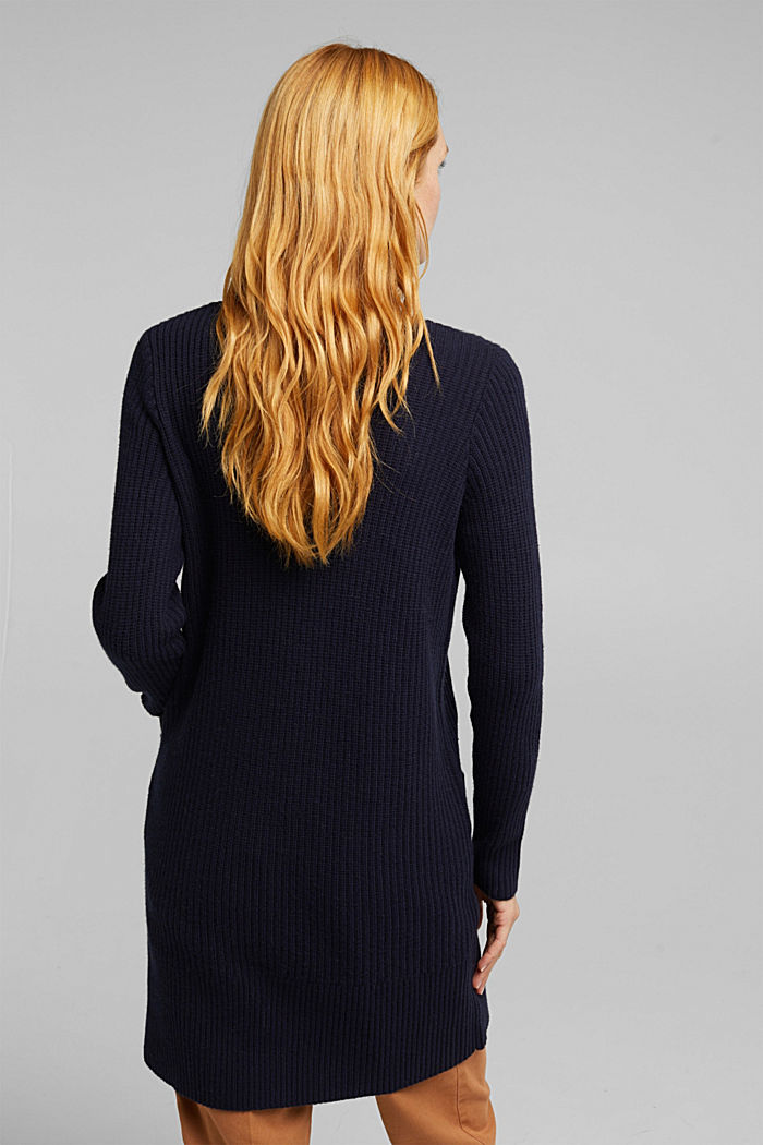 Long cardigan containing cashmere, NAVY, detail image number 3