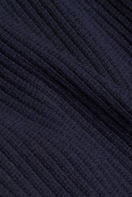 Long cardigan containing cashmere, NAVY, detail