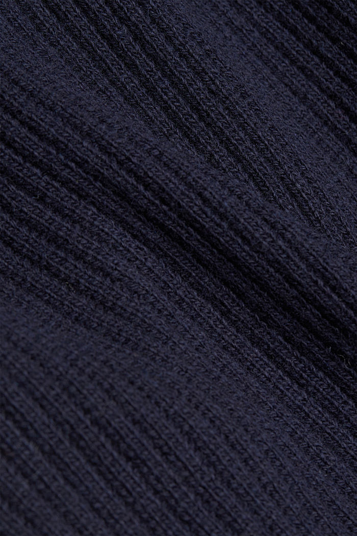 Long cardigan containing cashmere, NAVY, detail image number 4