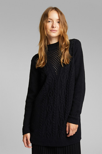 Long jumper containing organic cotton