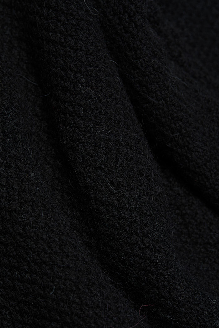 Long jumper containing organic cotton, BLACK, detail image number 4