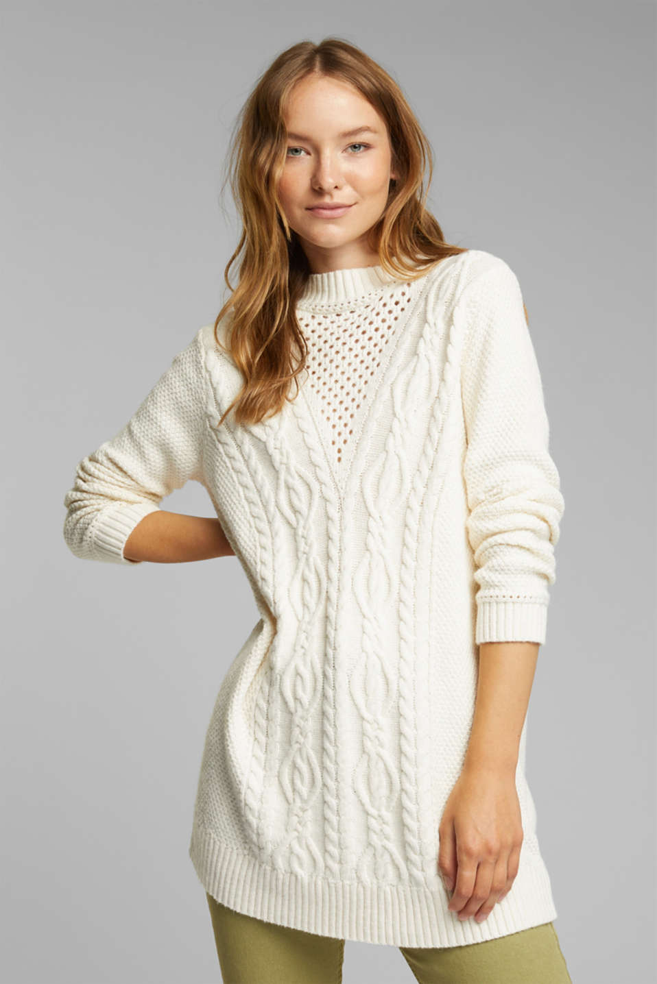 Esprit - Long Pullover mit Organic Cotton