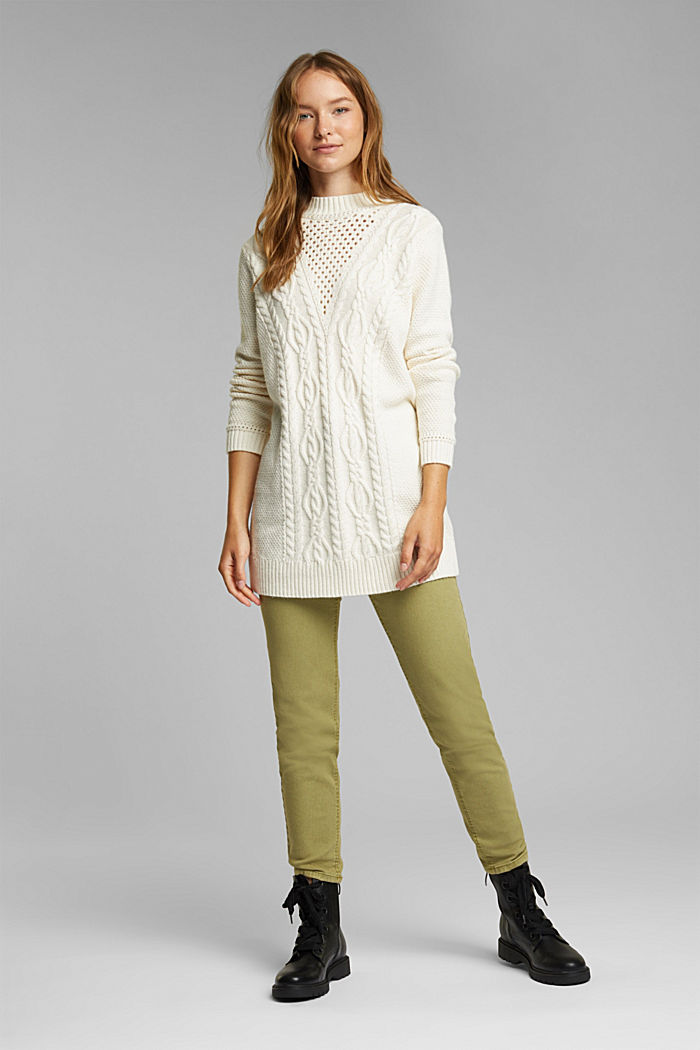 Long jumper containing organic cotton, CREAM BEIGE, detail image number 1