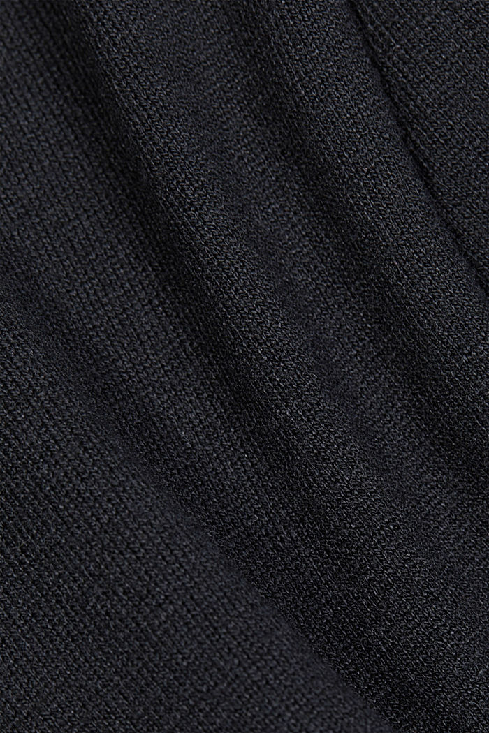 Recycled: Jumper with lace, BLACK, detail image number 4