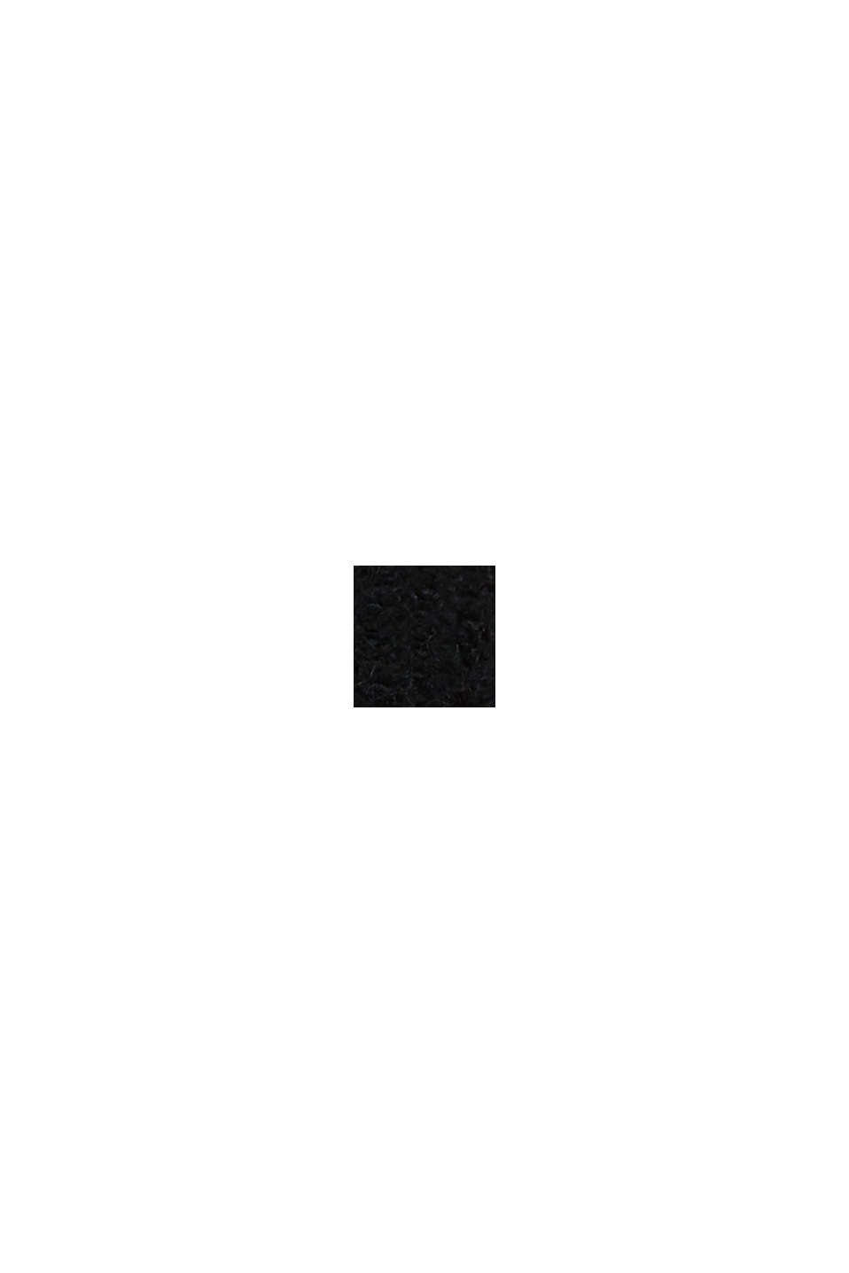 Z alpaką: kardigan z dzianinowym wzorem, BLACK, swatch