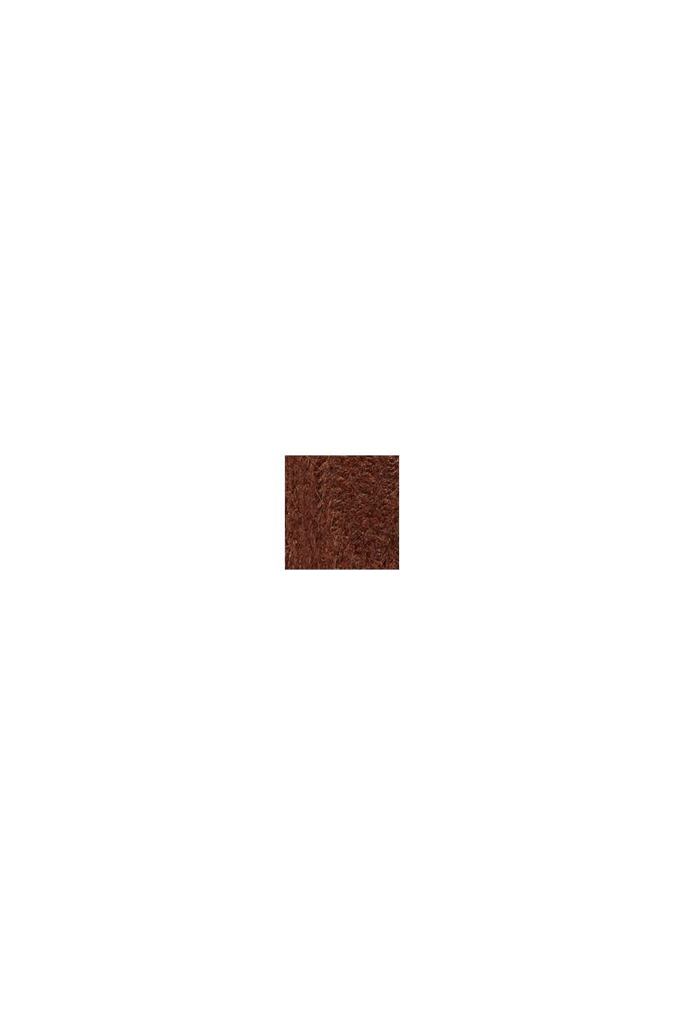 Z alpaką: kardigan z dzianinowym wzorem, BROWN, swatch