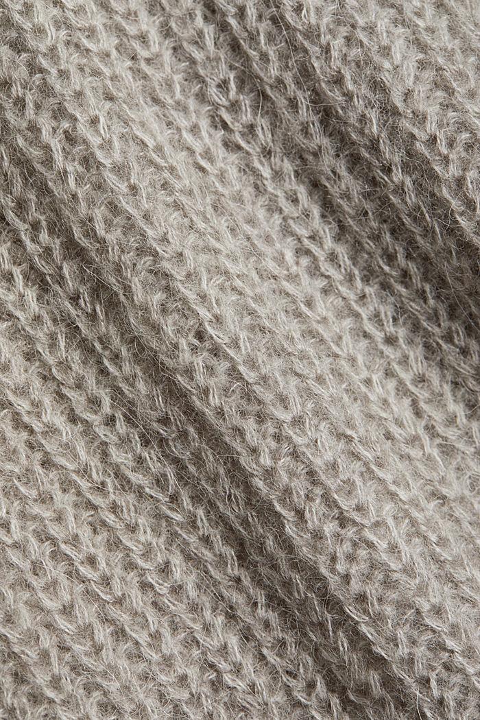 CURVY alpaca/wool blend: knit jumper, MEDIUM GREY, detail image number 4