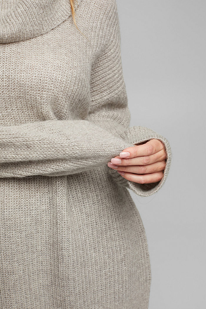 CURVY alpaca/wool blend: knit jumper, MEDIUM GREY, detail image number 5