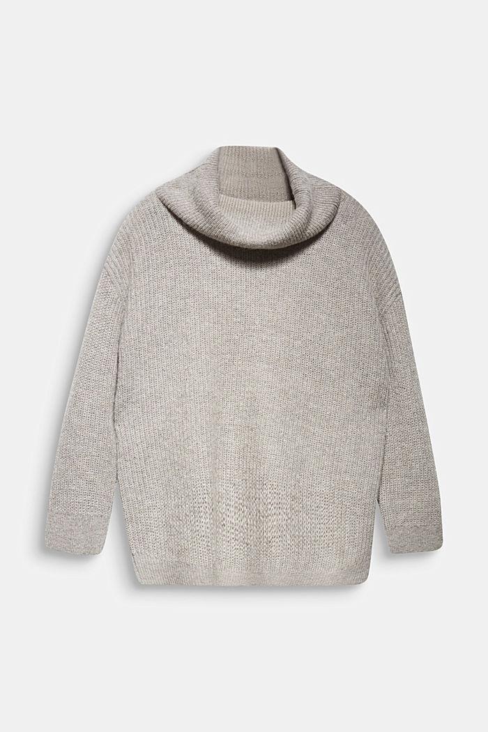 CURVY alpaca/wool blend: knit jumper, MEDIUM GREY, detail image number 8