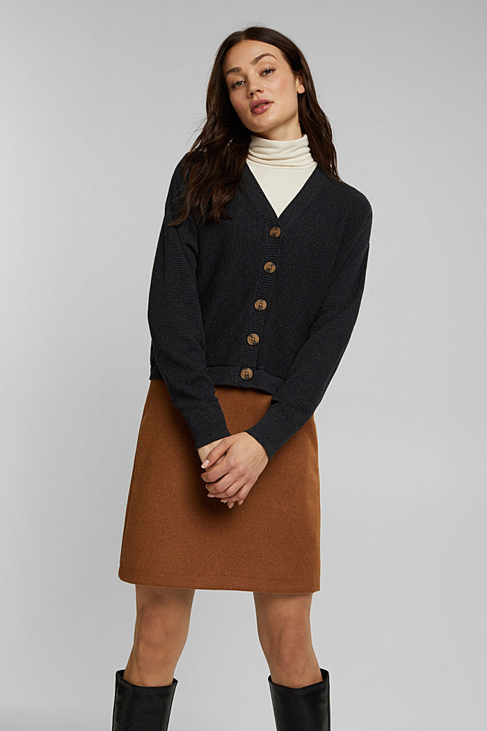 Cashmere blend: cardigan made of organic cotton