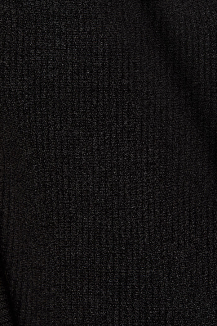 Cashmere blend: cardigan made of organic cotton, ANTHRACITE, detail image number 4