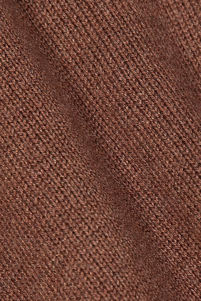 Cardigan with organic cotton, BROWN, detail image number 4