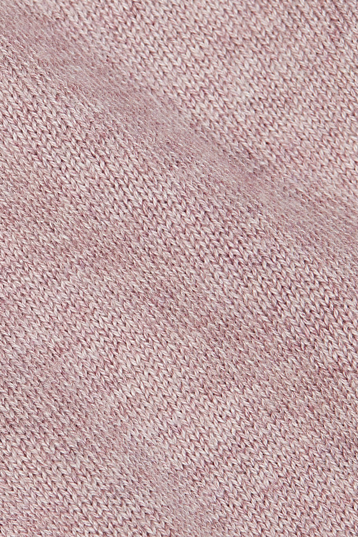 Cardigan with organic cotton, MAUVE, detail image number 4