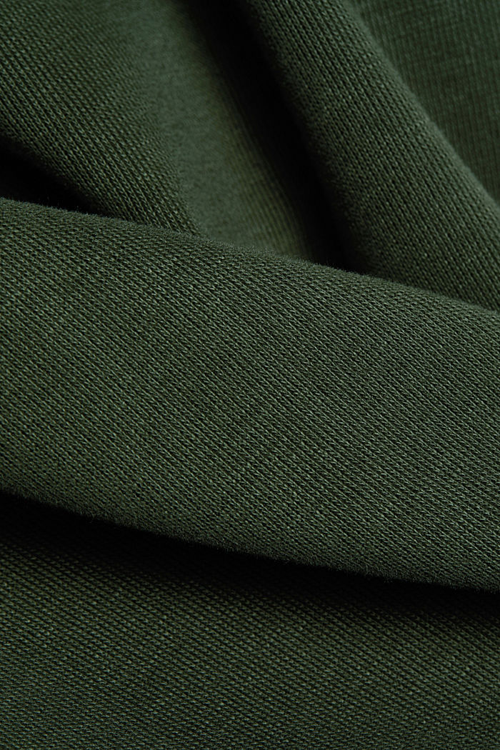Recycled: Sweatshirt with organic cotton, DARK GREEN, detail image number 4