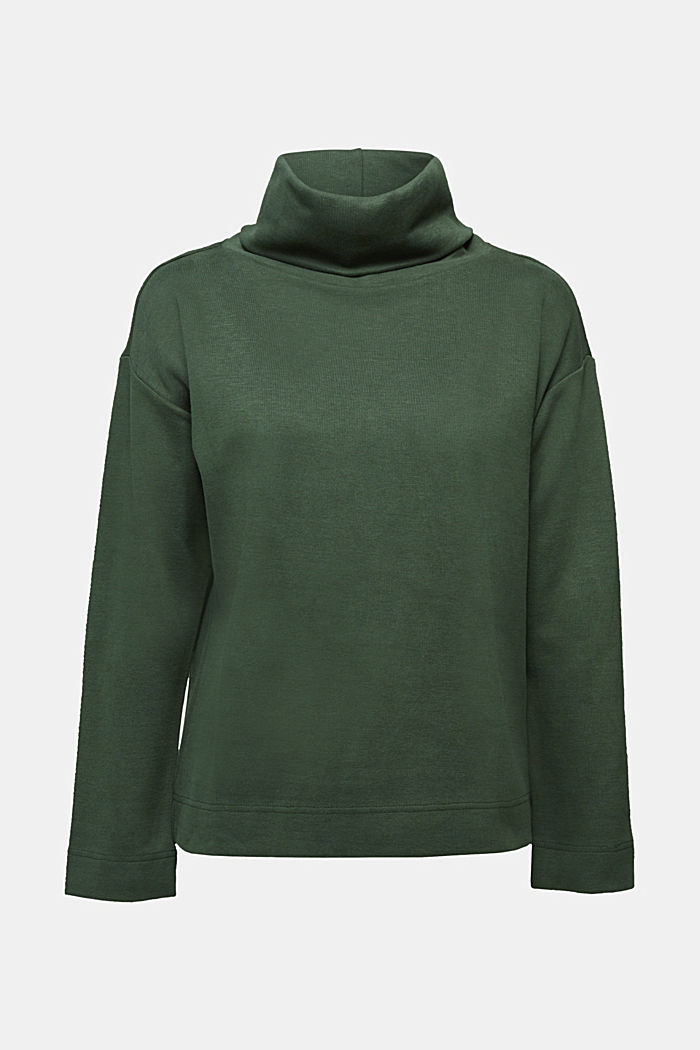 Recycled: Sweatshirt with organic cotton, DARK GREEN, detail image number 5