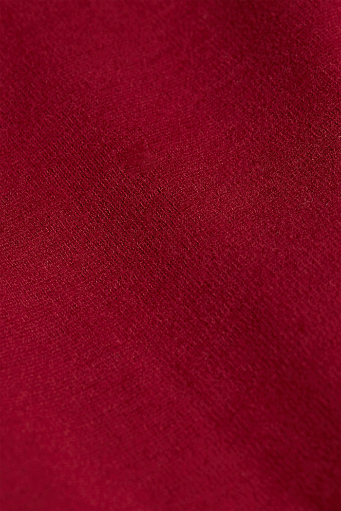 Recycled: Sweatshirt with organic cotton, BORDEAUX RED, detail image number 4
