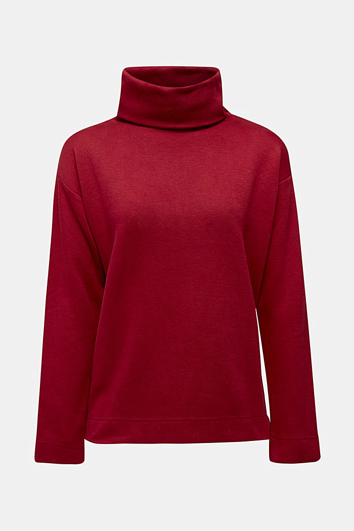 Recycled: Sweatshirt with organic cotton, BORDEAUX RED, detail image number 6