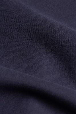 Zip-neck sweatshirt containing organic cotton, NAVY, detail