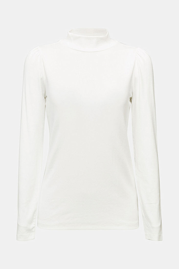 Jersey long sleeve top with organic cotton, OFF WHITE, detail image number 5