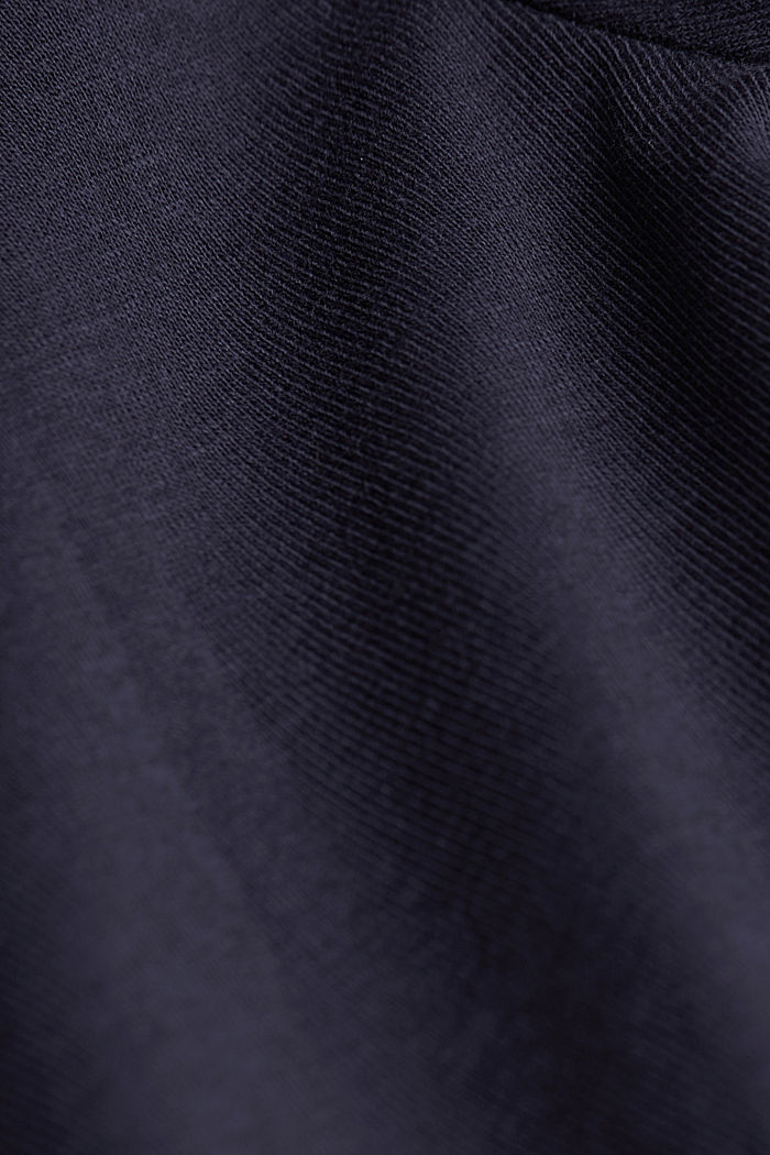 Jersey long sleeve top with organic cotton, NAVY, detail image number 4