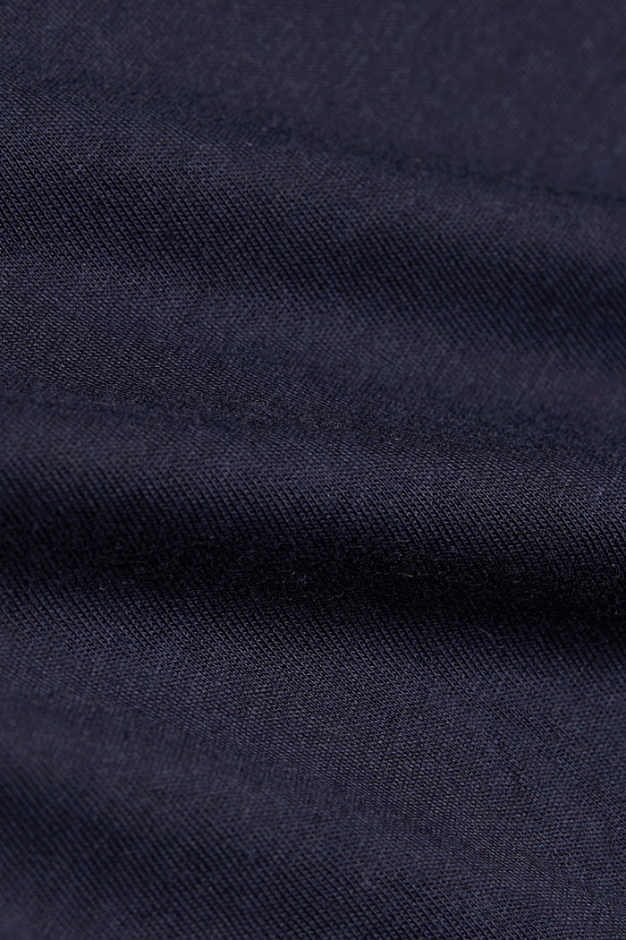 Long sleeve top with LENZING™ ECOVERO™, NAVY, detail image number 4