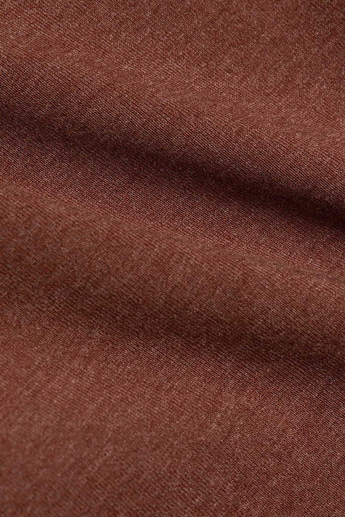 Long sleeve top with organic cotton, BROWN, detail image number 4