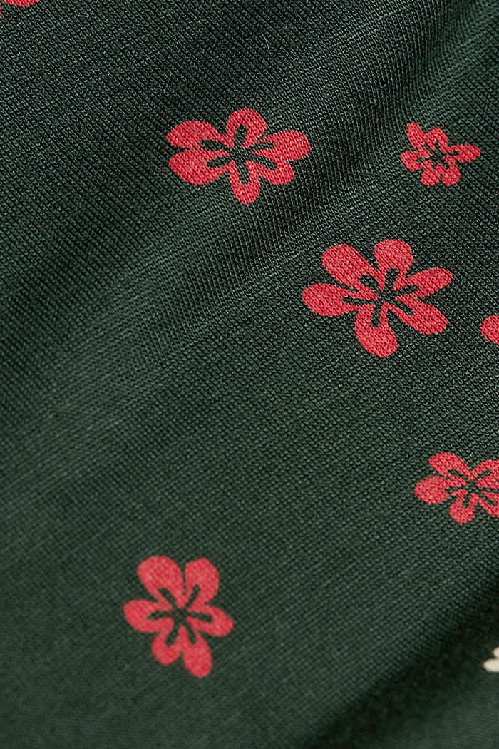 Jersey blouse made of LENZING™ ECOVERO™, DARK GREEN, detail image number 4