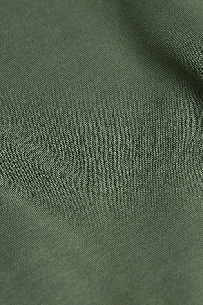 Long sleeve top made of 100% organic cotton, DARK GREEN, detail image number 4
