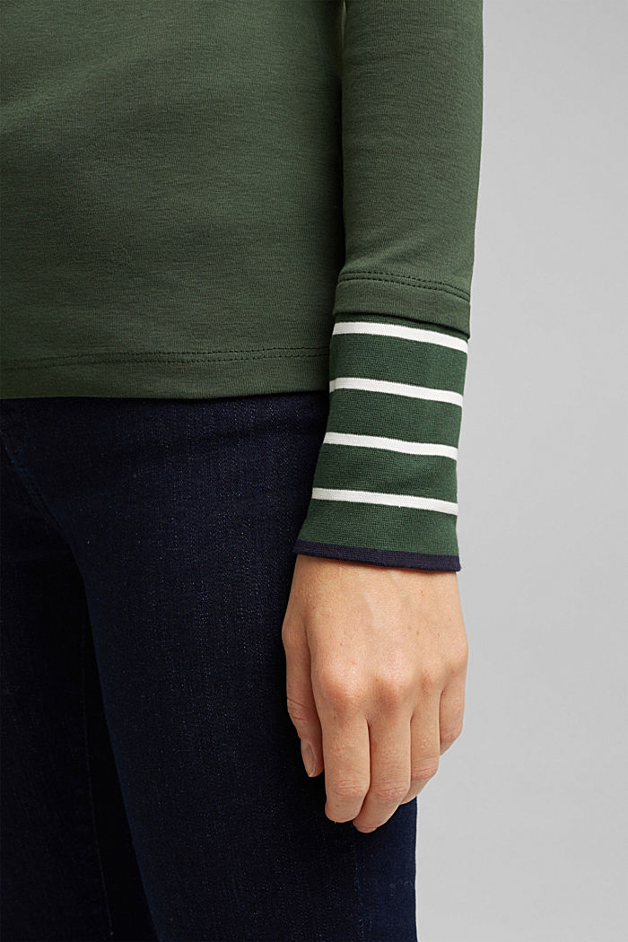 Long sleeve top made of 100% organic cotton, DARK GREEN, detail image number 5