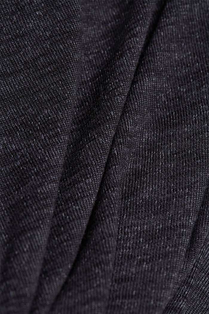 Long-sleeve top with broderie anglaise, GUNMETAL, detail image number 4