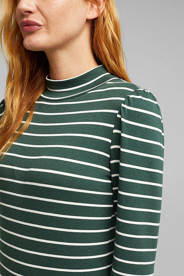 Long sleeve top with organic cotton, DARK GREEN, detail image number 2