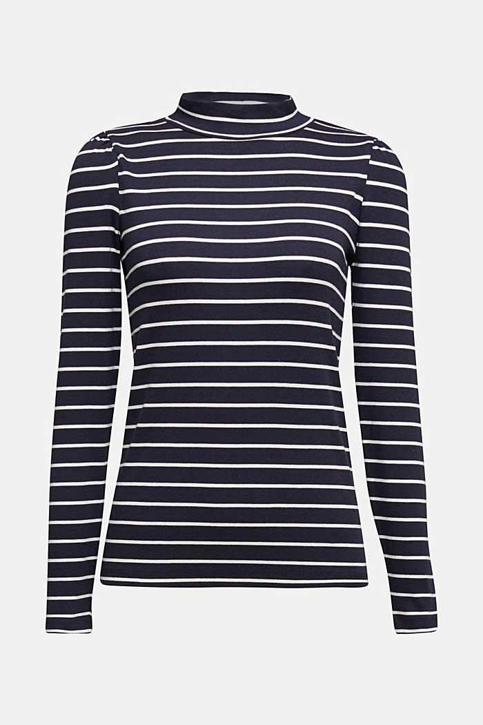 Long sleeve top with organic cotton, NAVY, detail image number 5