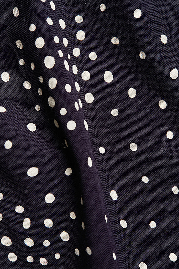 CURVY print T-shirt with organic cotton, NAVY, detail image number 4