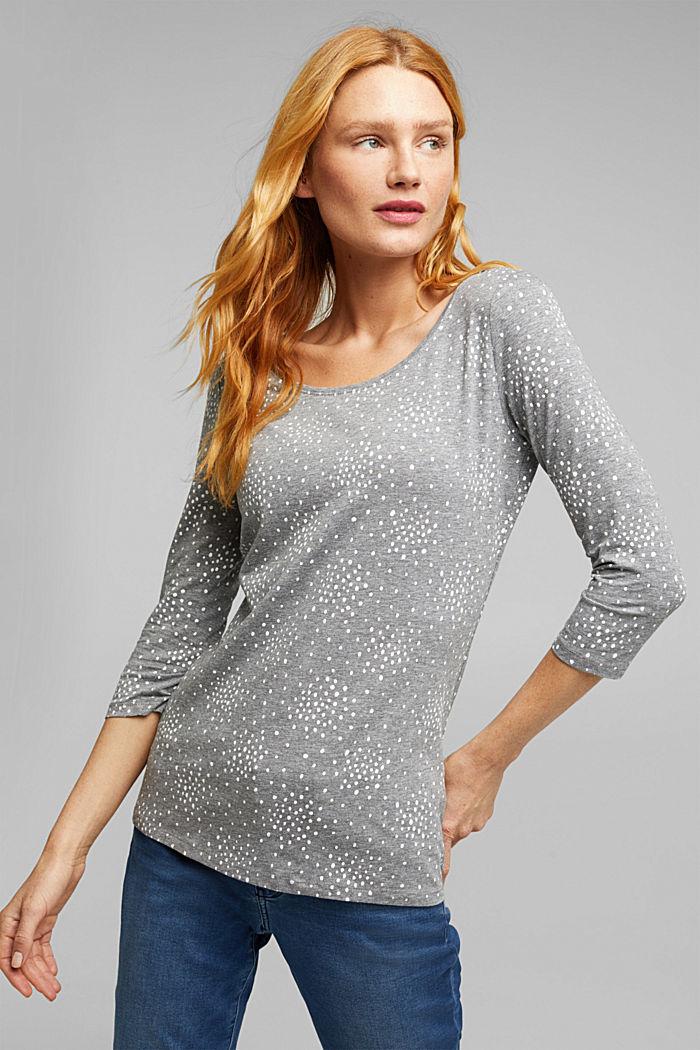 Organic cotton-jersey T-shirt, GUNMETAL, detail image number 0