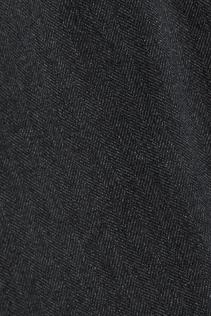 Herringbone trousers made of stretch organic cotton, ANTHRACITE, detail image number 4
