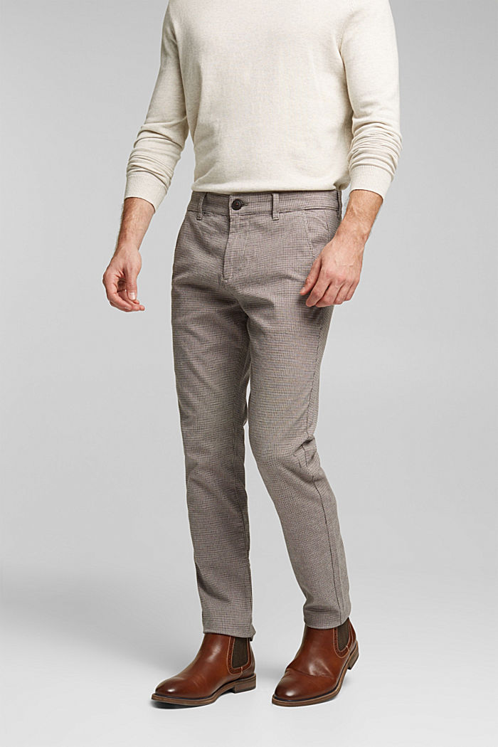 Chinos made of organic cotton, BROWN GREY, detail image number 0