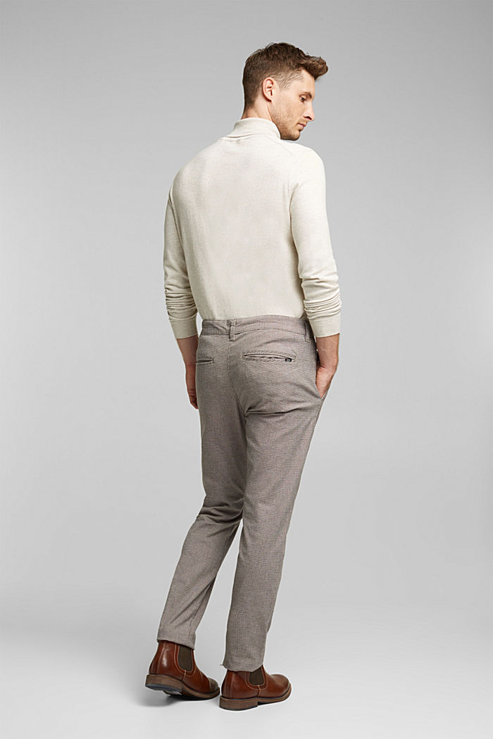 Chinos made of organic cotton, BROWN GREY, detail image number 3