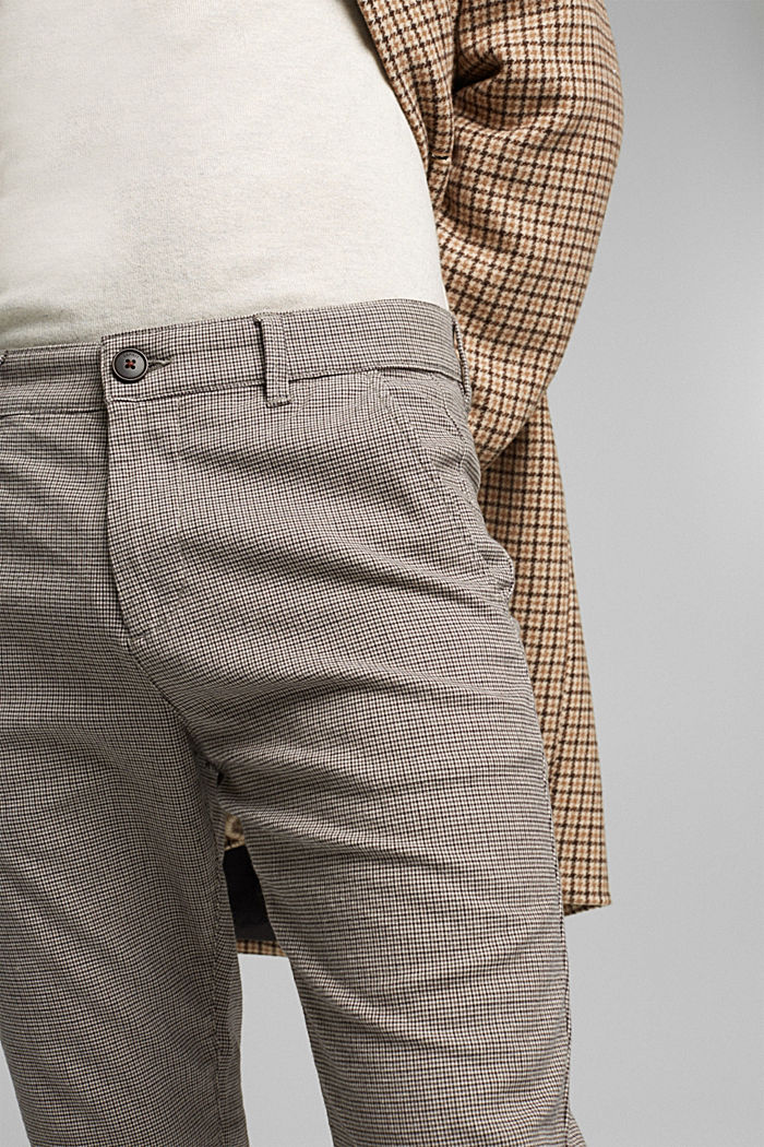 Chinos made of organic cotton, BROWN GREY, detail image number 2