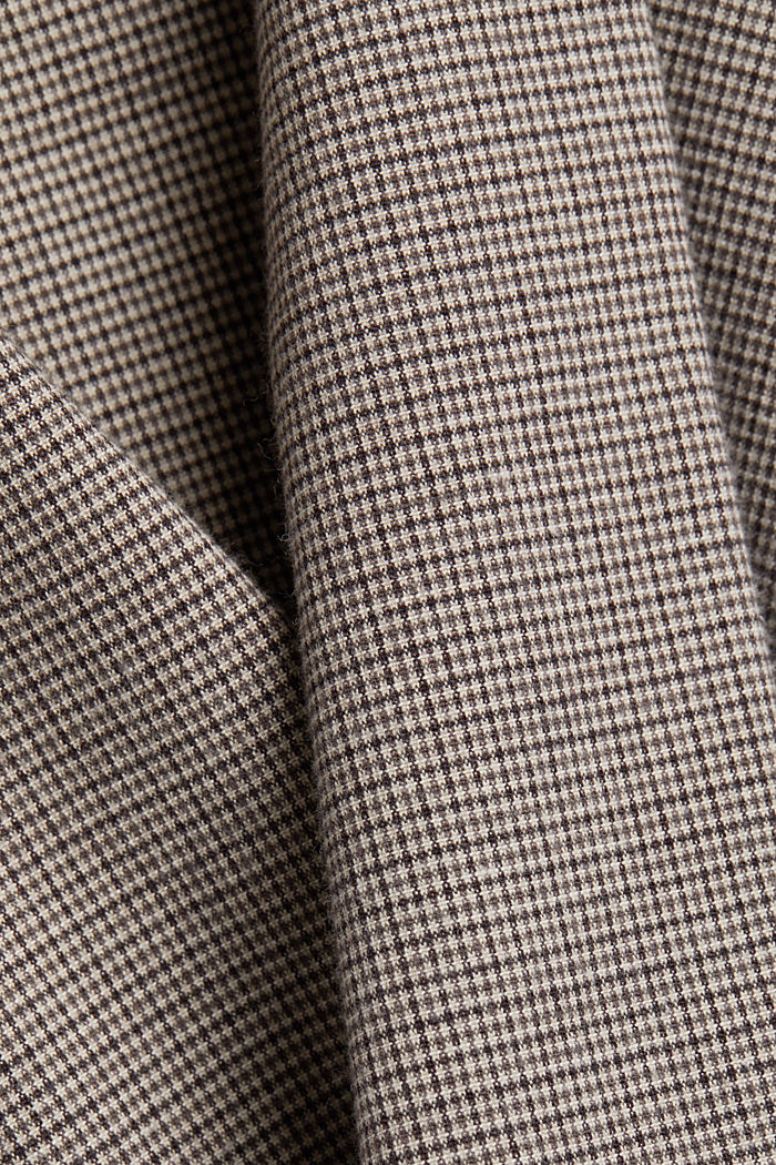 Chinos made of organic cotton, BROWN GREY, detail image number 4