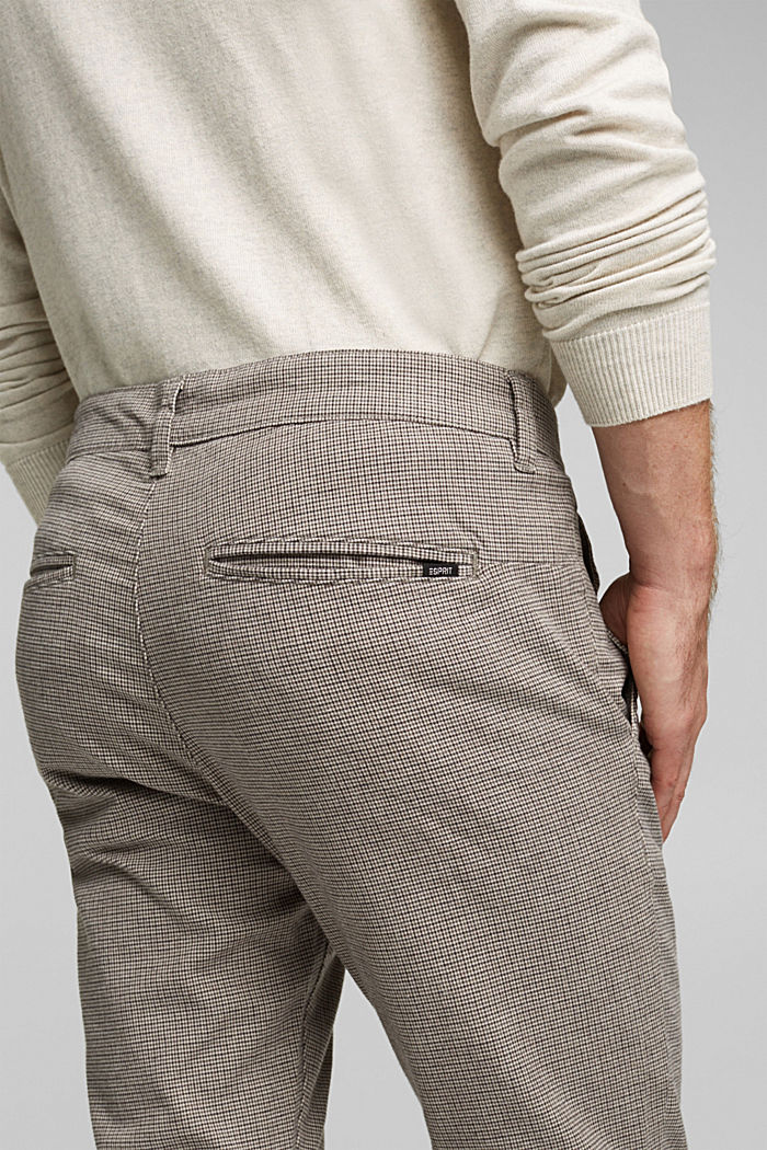 Chinos made of organic cotton, BROWN GREY, detail image number 5