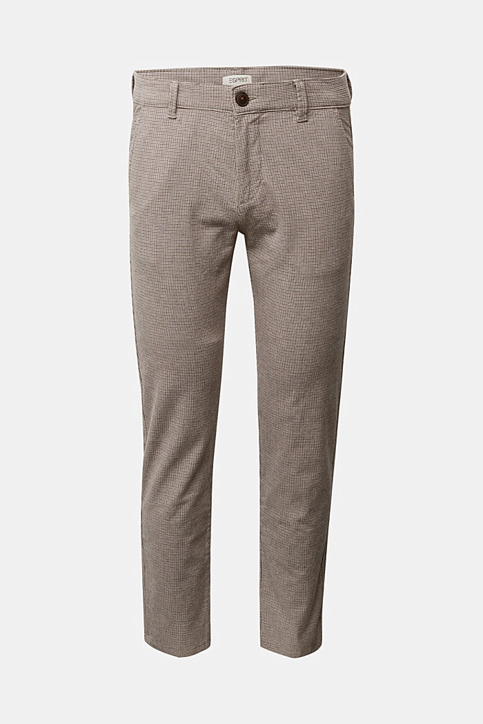Chinos made of organic cotton, BROWN GREY, detail image number 6