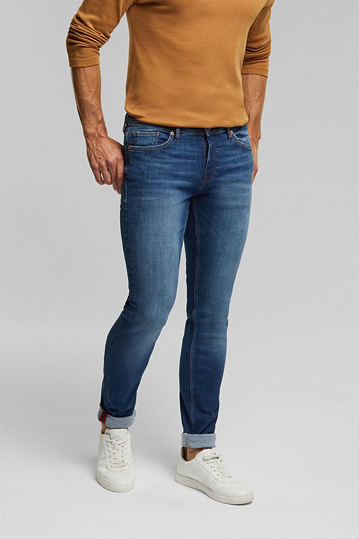 Pants denim, BLUE DARK WASHED, detail image number 0