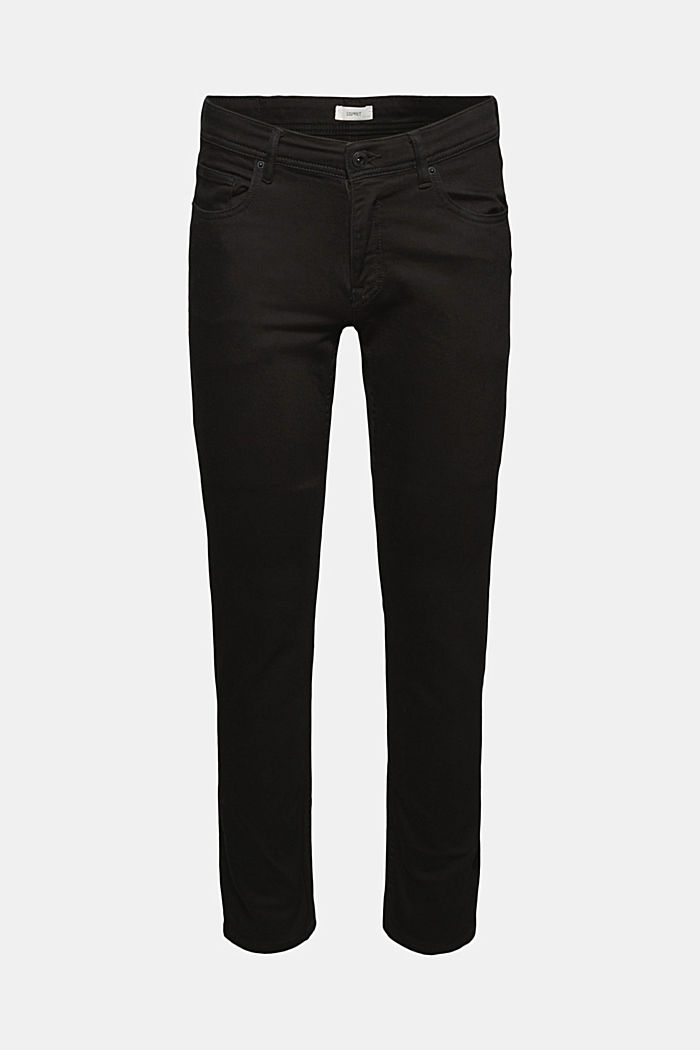Stretch jeans containing organic cotton, BLACK RINSE, detail image number 7