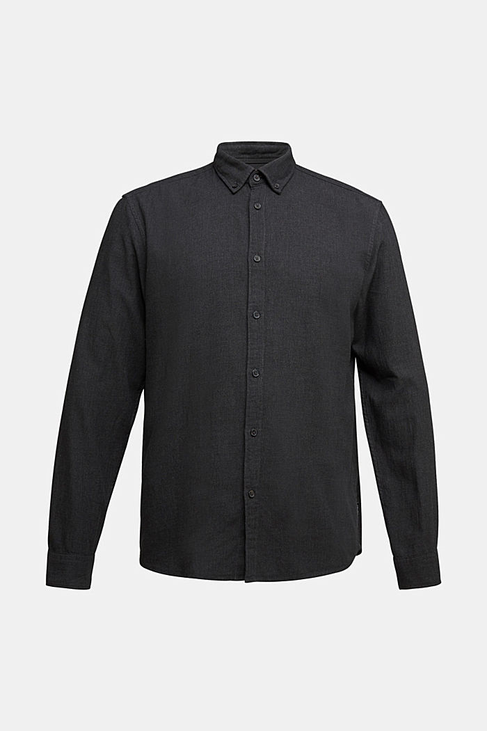 Flannel shirt made of 100% organic cotton, ANTHRACITE, overview